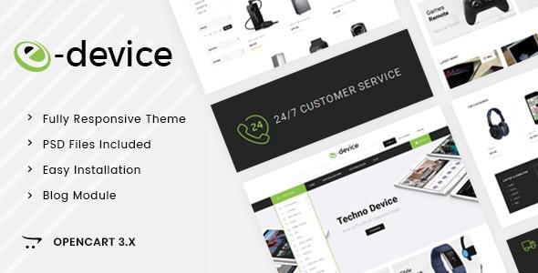 eDevice - OpenCart 3.x Responsive Theme - Shopping OpenCart