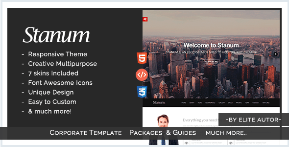 Stanum - Responsive Creative Bootstrap Template - Technology Site Templates