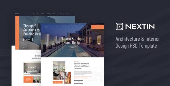 Nextin - Architecture & Interior Design PSD Template - Creative PSD Templates