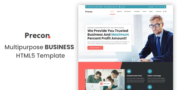 Precon - Multipurpose Business & Agency HTML5 Template - Business Corporate
