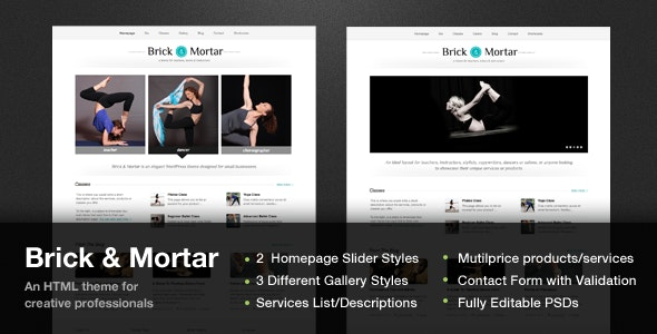Brick & Mortar - A Personal Business Template - Business Corporate
