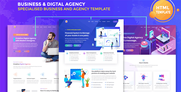 Bizness - Business & Digital Agency Template - Business Corporate