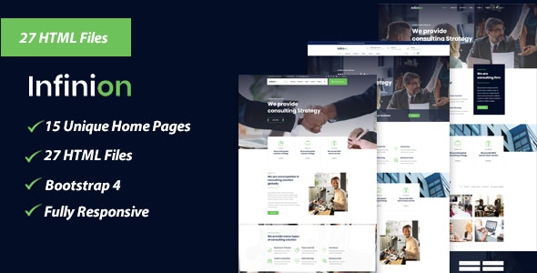 Infinion - Business, Agency, Corporate, Consulting HTML Template - Business Corporate