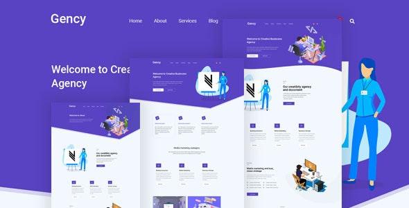 Gency – Creative Multipurpose PSD Template - Business Corporate