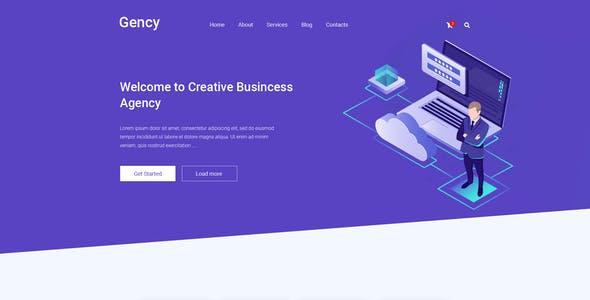 Gency – Creative Multipurpose PSD Template