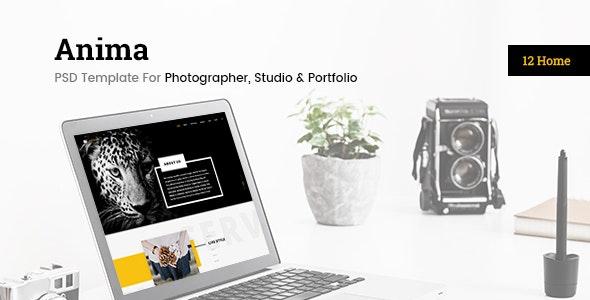 Enima - Photographer, Studio & Portfolio PSD Template - Photography Creative