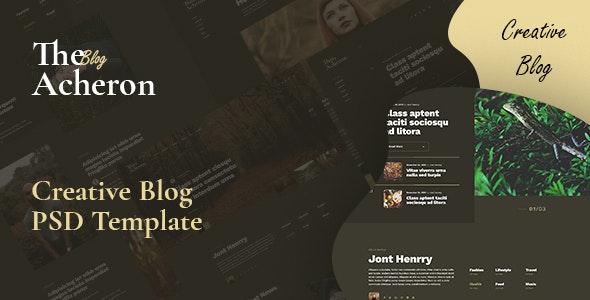 Acheron - Creative blog PSD Template - Photoshop UI Templates