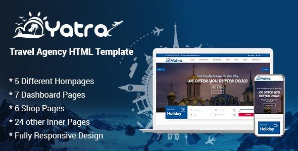 Yatra - Travel Agency HTML Template - Travel Retail