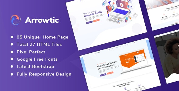 Arrowtic - Digital Marketing Agency HTML Template - Marketing Corporate