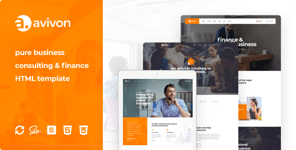 Avivon - Pure Business Consulting & Finance HTML5 Template - Business Corporate
