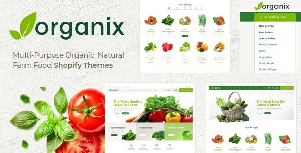 Shopify - Organix Clean, Minimal , Drag & Drop - Shopping Shopify