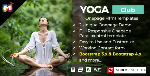 Responsive One Page Parallax HTML Template - Health & Beauty Retail
