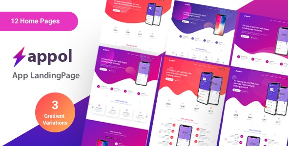 Appol - Landing Page For App - Marketing Corporate