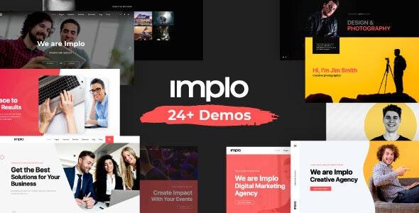 Implo - Corporate, Business, Portfolio and Niche Multi-purpose Template - Business Corporate