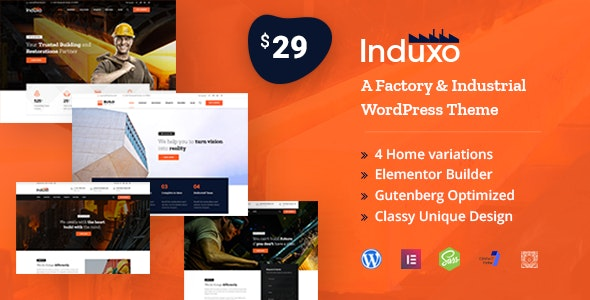 Induxo - Factory & Industrial WordPress Theme - Business Corporate
