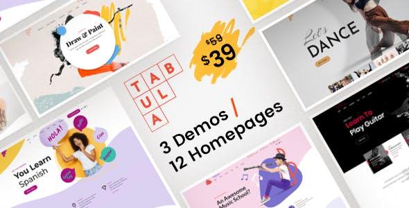 Tabula - Art & Language School WordPress Theme nulled theme download