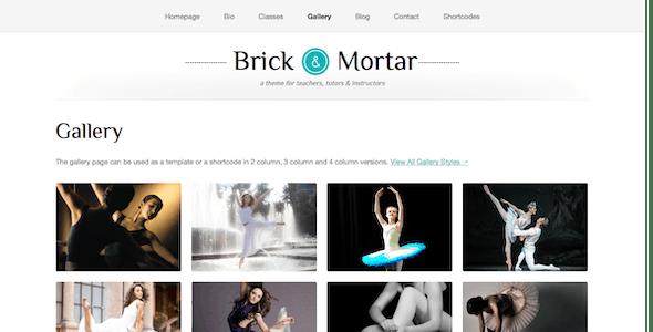 Brick & Mortar - A Personal Business Theme