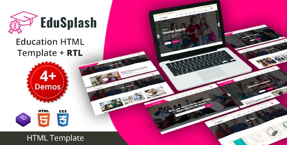 EduSplash - Education HTML Template - Business Corporate