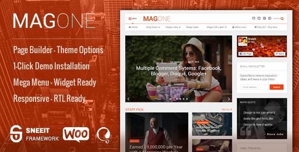 MagOne - Responsive Magazine & News WordPress Theme by