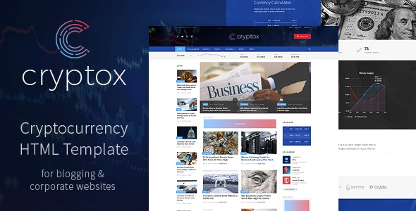 Cryptox - Cryptocurrency HTML Template - Business Corporate
