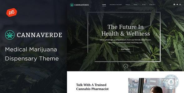 Cannaverde - Medical Marijuana Dispensary Theme - Health & Beauty Retail