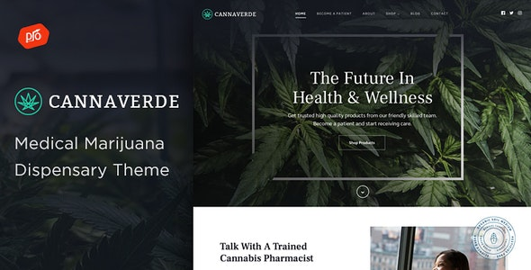 Cannaverde - Medical Marijuana Dispensary Theme - Health & Beauty Retail