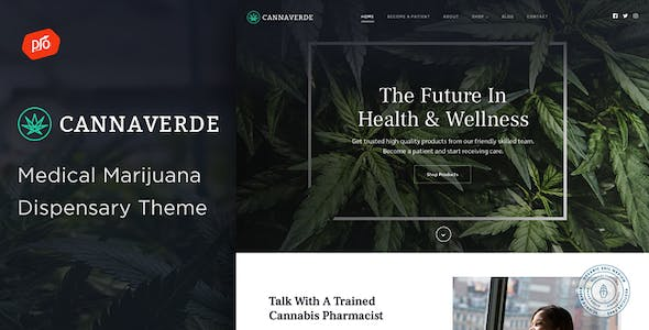 Cannaverde - Medical Marijuana Dispensary Theme nulled theme download