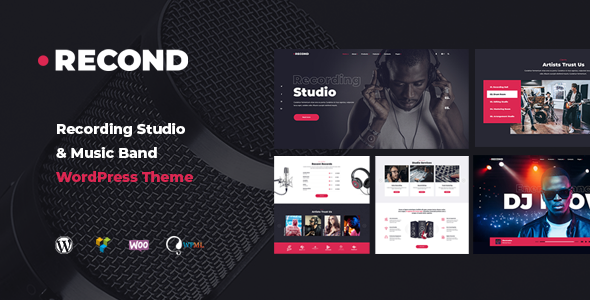 Recond - Recording Studio & Music Band WordPress Theme - Music and Bands Entertainment