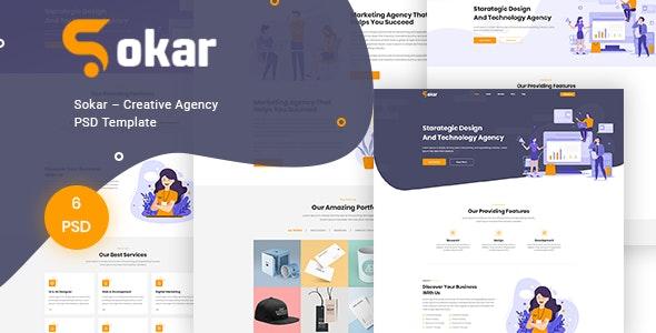 Sokar – Creative Agency PSD Template - Creative Photoshop