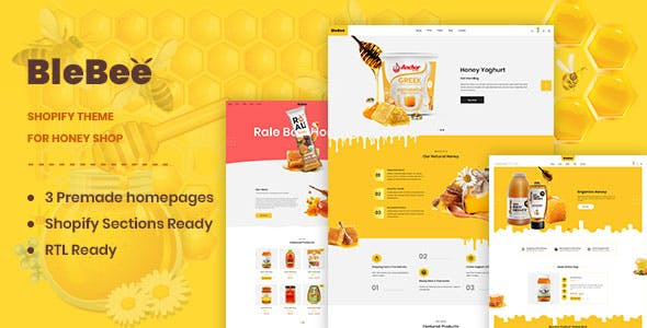 BleBee   Shopify theme for Honey Shop
