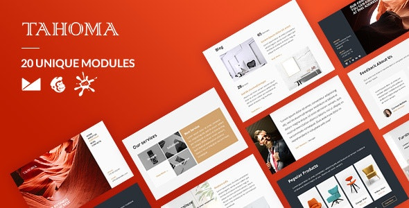 Tahoma Email-Template + Online Builder - Newsletters Email Templates
