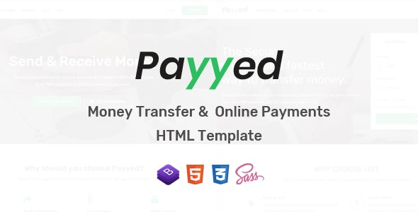 Payyed - Money Transfer and Online Payments HTML Template by HarnishDesign