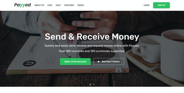 Money Transfer Templates From Themeforest