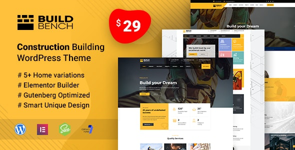 Buildbench - Building and Construction WordPress Theme - Business Corporate