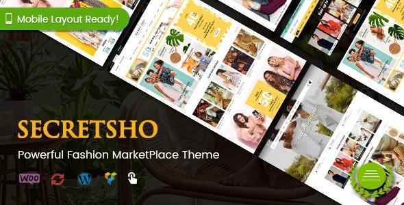 SecretSho - Fashion Shop WordPress WooCommerce MarketPlace Theme (Mobile Layout Included) - WooCommerce eCommerce