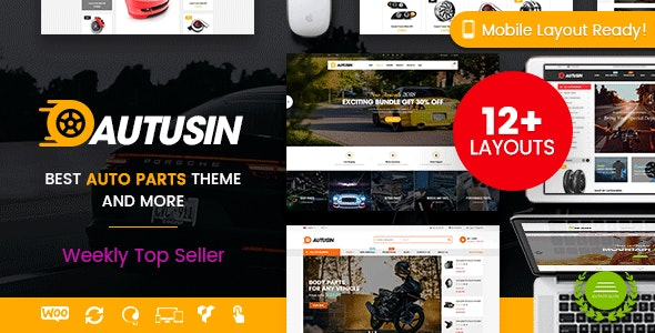 Autusin Auto Parts Car Accessories Shop Wordpress Woocommerce