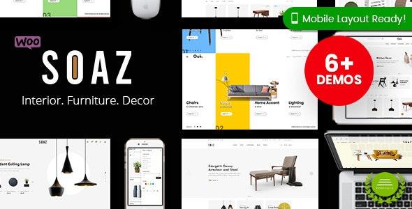 Soaz - Furniture Store WordPress WooCommerce Theme (Mobile Layout Ready) - WooCommerce eCommerce