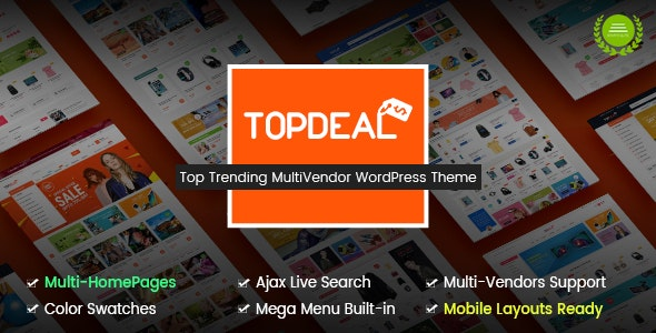 TopDeal - Multi Vendor Marketplace WordPress Theme (Mobile Layouts Ready) - WooCommerce eCommerce