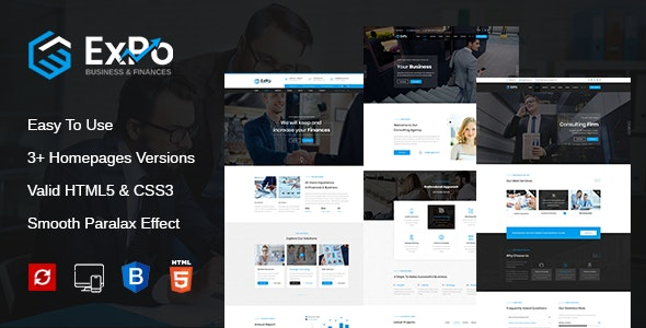 Expo - Finance, Business & Consulting HTML Template - Business Corporate
