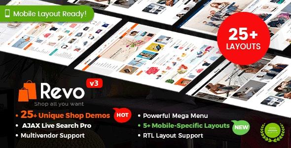 Revo - Multipurpose WooCommerce WordPress Theme (25+ Homepages & 5+ Mobile Layouts) - WooCommerce eCommerce