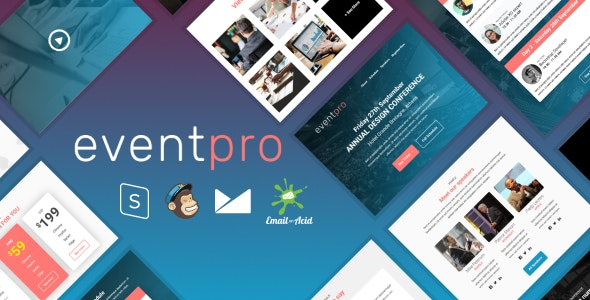 EventPro - Responsive Email Template with MailChimp Editor, StampReady & Online Builder - Newsletters Email Templates