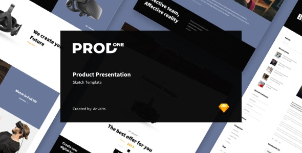 Prodone - Product Presentation Sketch Template - Sketch Templates