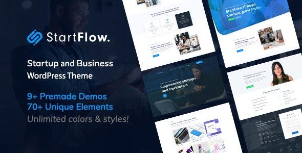 Start Flow - Startup and Creative Multipurpose WordPress Theme - Corporate WordPress
