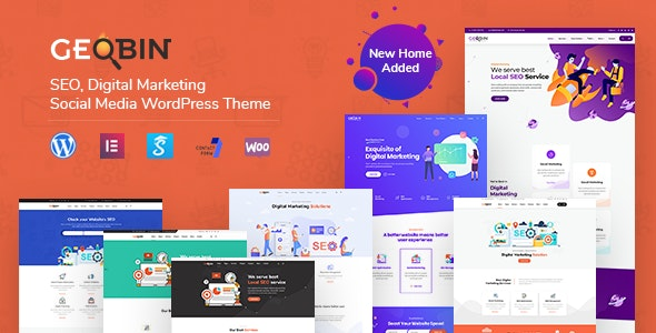 GeoBin | Digital Marketing Agency, SEO WordPress Theme by
