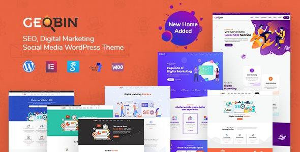 GeoBin | Digital Marketing Agency, SEO WordPress Theme - Marketing Corporate