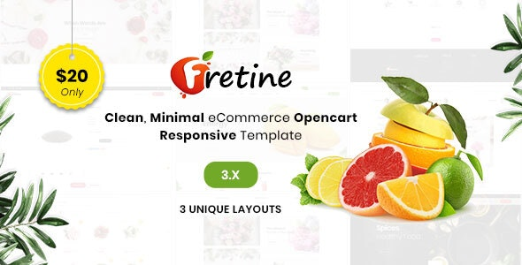Fretine Organic Store - Responsive OpenCart 3.0 Theme - Shopping OpenCart