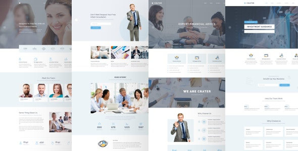 Crater - Business & Financial PSD Template - Business Corporate