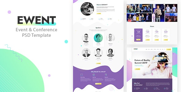 Ewent - Event & Conference PSD Template - Events Entertainment