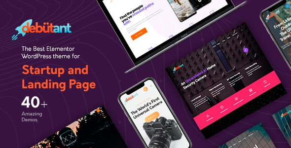 Debutant - Landing Page WP theme by StylemixThemes | ThemeForest