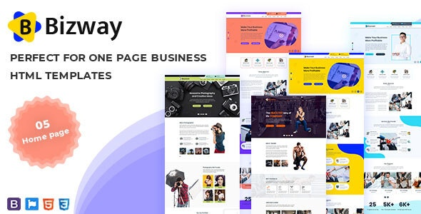 Bizway - One Page HTML Template - Business Corporate